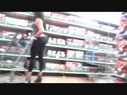 AssTracker Candid: Ebony Milf T-Rex Booty in Spandex