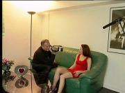 Striptease and masturbation