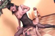 Carmen fucking in a bodystocking