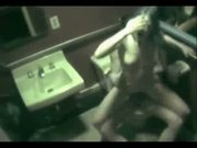 Voyeur - Caught fucking in toilet by security cam