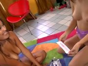 Karly and Jasmine Lesbian Playtime