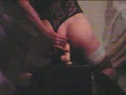 Anal Slut Ride's Big Dildo