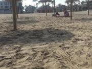 Naked nude desnudo on non naturist beach in Valencia
