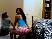 Three sluts shaking butts