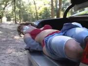 Hogtied in the trunk