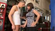 Naughty Mommy Catches Young Guy In The Garage...F70