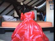 red satin dresses 01