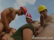 Teens fucked at construction yard