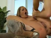 Blonde banged in every hole