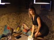 Russian whore in VIP room in restotaunt!