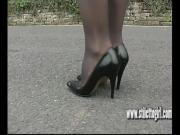 Sexy stiletto girl Donna dazzling in high heels shoe fetish