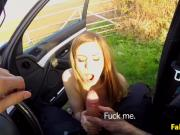 Bigtitted culprit assfucked outdoors by cop