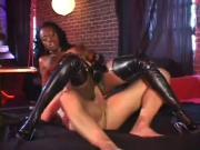 Jada Leather & Latex Anal Pounding