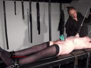 Tattooed amateur slaves extreme bdsm and punishment rack