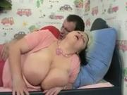 Young fatty with giant tits fucking