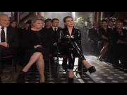 Martina Hill im sexy schwarzen Latex Outfit