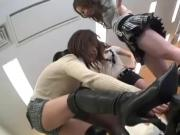 Japanese Group Foot Worship and Femdom
