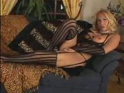 Hot blondTranny masturbates and cums