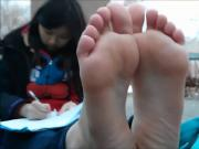 High school chinese girl soles size 8.5