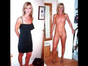 MILFs clothed and naked