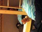 Candid College Teen Feet & Soles in Dorm