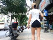 Candid: Hot long legs with shorts