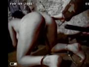 Dungeon slave girl gives oral