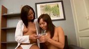 Horny asian doctor have fun with her patient