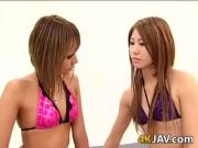 Japanese Lesbians With A Strapon