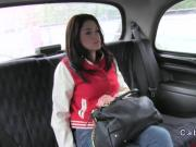 Fake taxi driver fucking beautiful babe