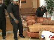 Kinky blonde slut Aiden Aspen analyzed by big black boners