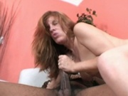 Hot brunette enjoys fucking a big dong