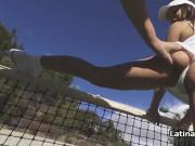 Hot fuck during tennis break