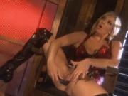 Sexy pornstar taking cumshot on her tits