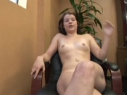 Amateur hottie sucks dick in the office