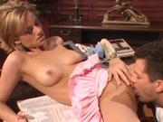 Wifey enjoying a stiff younger cock