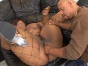 Fat black woman riding a stiff cock