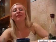 Drunk Russian Teen Gets Fucked Sober