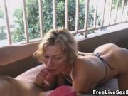 Horny Wife Deep Throat Sucking Of Cock