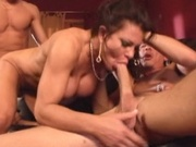 Huge rack milf fucked by two younger cock