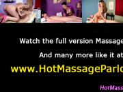 Masseuse gets cumshot after handjob