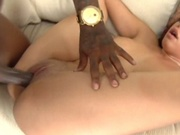 Redhead girl hit by a big black cock