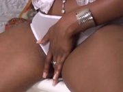 Great bodied ebony girl banging white cock