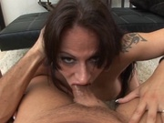 Big titted girl gets throat fucked