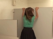 Cute teens fucked in the mens room