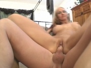 Horny wife rewarded with two hard cocks