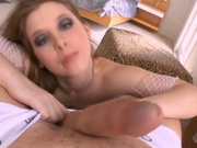 Hot mom shot with cum in the eye