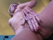 Horny lesbians muffdiving and fingering pussies
