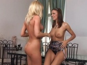 Straight girls get horny with each other