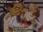 Petite anime babe fondled